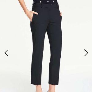 Ann Taylor Black Trouser Devin Fit Pants Work 4